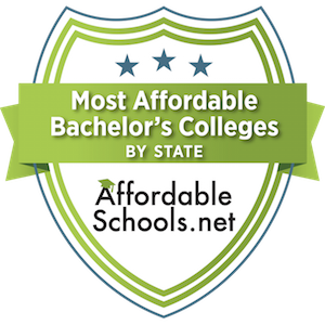Affordableschools.net badge for Most Affordable Bachelor's Colleges