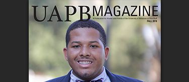 Treston Hawkins on the cover of UAPB Magazine