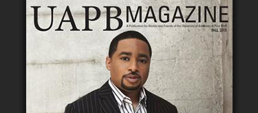 Smokie Norful on the cover of UAPB Magazine